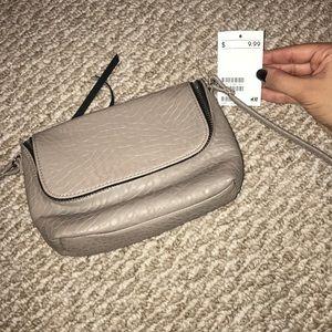 Taupe/Gray Crossbody Bag